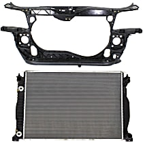 Radiator, 4cyl Eng. and Radiator Support