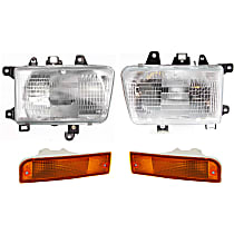 Headlights - Driver and Passenger Side, Kit, Composite, With Bulb(s), With Turn Signals