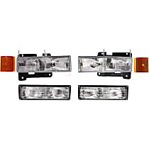 Replacement Headlight, Turn Signal Light and Side Marker Kit
