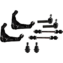 Control Arm - Front, Driver and Passenger Side, Upper, with Sway Bar Links, Lower Ball Joints, and Outer Tie Rod Ends