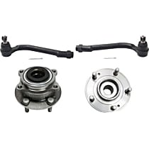 Front, Driver and Passenger Side Wheel Hub and Tie Rod End Assembly