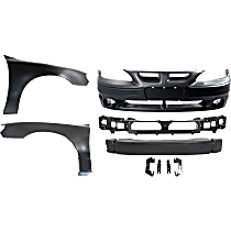 Replacement Bumper Reinforcement, Fender, Header Panel and Bumper Cover Kit - OE Replacement
