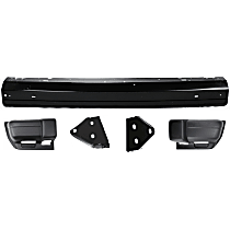 Bumper - Front, Powdercoated Black, For USA Built Vehicles, with Bumper Brackets and Bumper Ends