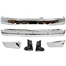 Bumper - Front, Chrome, SR5 Model, with Rear Stay Supports, Step Bumper and Rear Bumper Ends, without Sport Package