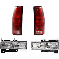 Replacement Tail Light and Headlight Kit - DOT/SAE Compliant