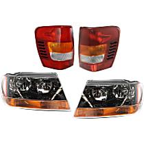 Tail Light and Headlight Kit - Amber, DOT/SAE Compliant