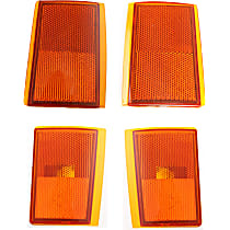 Reflector and Side Marker Kit - Front, Driver and Passenger Side, Direct Fit