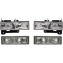 Headlight and Turn Signal Light Kit - DOT/SAE Compliant