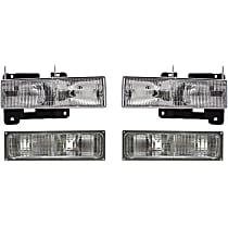 Replacement Headlight and Turn Signal Light Kit - DOT/SAE Compliant