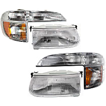 Replacement Headlight and Corner Light Kit - KIT1-053100-62-B - DOT/SAE Compliant