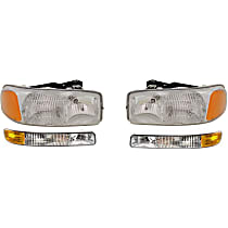 Headlights - Driver and Passenger Side, Kit, For SL And SLE, With Bulb(s), With Parking Lights