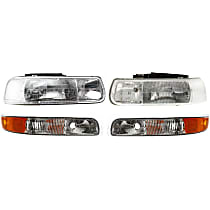 Replacement Parking Light and Headlight Kit - Driver and Passenger Side, Direct Fit, DOT/SAE Compliant