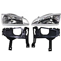 Replacement Headlight and Headlight Bracket Kit - KIT1-053100-92-A - DOT/SAE Compliant