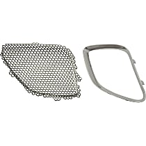 Grille Insert - Paintable, Passenger Side, Upper, Inner, with Right Grille Trim