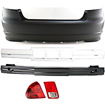 Replacement Bumper Reinforcement, Tail Light, Bumper Cover and Bumper Absorber Kit