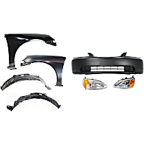 Bumper Cover - Front, Kit, Primed, For Coupe, Includes Fenders (w/ Fender Liners) and Headlights