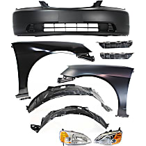 Bumper Cover - Front, Kit, Primed, For Coupe, Includes Fenders (w/ Fender Liners), Headlights and Bumper Brackets