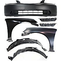 Bumper Cover - Front, Kit, Primed, For Coupe or Sedan, Includes Fenders (w/ Fender Liners) and Bumper Brackets