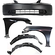 Bumper Cover - Front, Kit, Primed, For Coupe or Sedan, Includes Fenders (w/ Fender Liners)