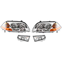 Fog Light - Driver and Passenger Side, Lens and Housing, with Right and Left Headlights