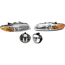 Headlights - Driver and Passenger Side, Kit, For Convertible, With Bulb(s), With Fog Lights