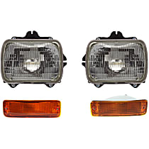 Headlights - Driver and Passenger Side, Kit, Sealed Beam, With Bulb(s), With Turn Signals
