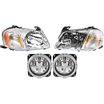 Fog Light - Driver and Passenger Side, with Right and Left Headlights