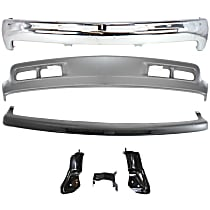 Replacement Bumper Filler, Valance, Bumper and Bumper Bracket Kit