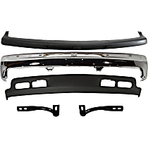 Bumper - Front, Chrome, with Lower Valance, Bumper Filler and Outer Braces