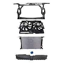 Radiator, Cooling Fan Assembly, Radiator Cap, Radiator Support, Radiator Support Cover Kit
