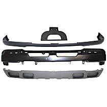 License Plate Bracket - Front, Base/LS/LT Models, with Lower Air Deflector, Bumper, Bumper Cover