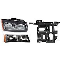 Headlight Bracket - Passenger Side, with Right Headlight and Right Turn Signal Light