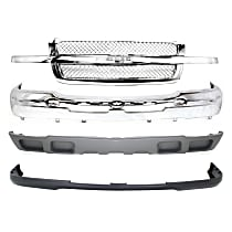 Grille Assembly - Chrome Shell and Insert, Mesh Insert, with Front Bumper, Front Bumper Cover and Front Valance