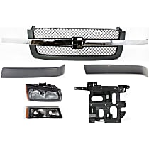Headlight Bracket, Grille Assembly, Grille Trim, Headlight, Turn Signal Light Kit