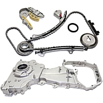 Timing Chain Kit - 4 Cylinder, 2.5 Liter Engine, With Sprocket (Gear), With Oil Pump