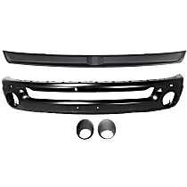 Bumper - Front, Powdercoated Black, Type 2, with Bumper Filler and Fog Light Bezels