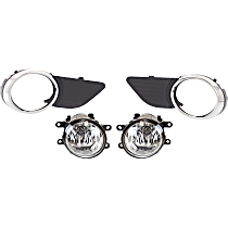 Fog Light - Driver and Passenger Side, with Right and Left Fog Light Trims