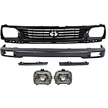 Replacement Bumper Filler, Grille Assembly, Bumper and Headlight Kit