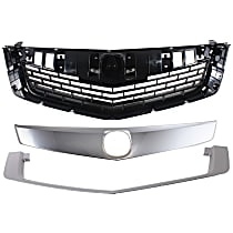 Grille Assembly - Primed Shell and Insert, with Upper and Lower Grille Trim