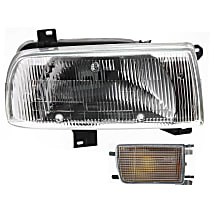 Headlight - Passenger Side, Kit, Single Beam, With Right Turn Signal