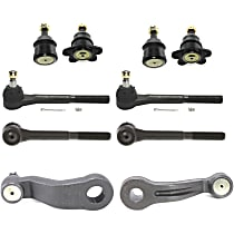 Pitman Arm - with Idler Arm, Front Upper and Lower Ball Joints, and Front Inner and Outer Tie Rod Ends