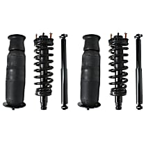 Air Spring - Rear, Driver and Passenger Side, with Front Right and Left Loaded Struts and Rear Right and Left Shock Absorbers