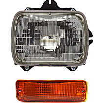 Headlight - Passenger Side, Kit, Sealed Beam, With Bulb(s), With Right Turn Signal