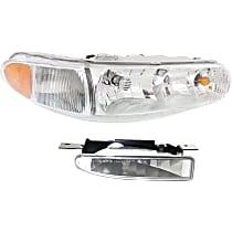Front, Passenger Side Fog Light, With bulb(s)