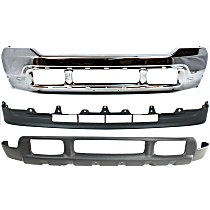 Bumper - Front, Chrome, with Center and Lower Valances, without Upper Valance Panel