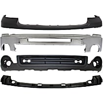 Bumper - Front, Chrome, with Towing Package, Bumper Pad, Air Deflector and Bumper Bracket Cover