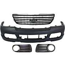 Grille Assembly, Bumper Cover and Fog Light Trim Kit