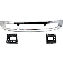 Bumper - Front, Chrome, with Bumper Mounting Plates