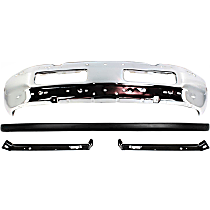 Bumper - Front, Chrome, with Upper Bumper Cover and Bumper Brackets