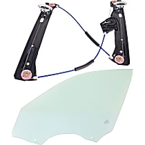 Window Regulator - Front, Driver Side, Power without Motor